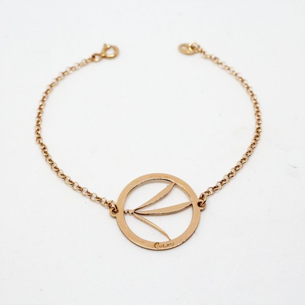 bracciale libellula rose gold